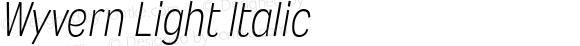 Wyvern Light Italic