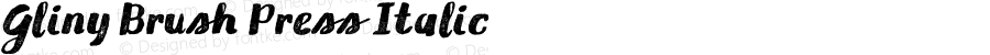 Gliny Brush Press Italic Version 1.000