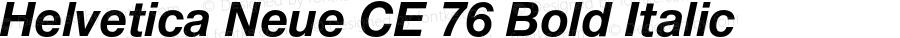 Helvetica Neue CE 76 Bold Italic 001.000