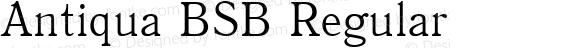 Antiqua BSB Regular 1.0 Wed Oct 29 12:45:00 1997