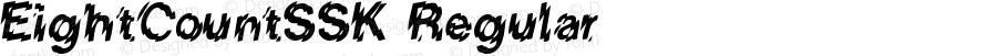 EightCountSSK Regular Macromedia Fontographer 4.1 8/2/95