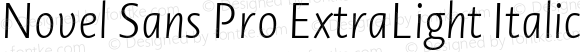 Novel Sans Pro ExtraLight Italic