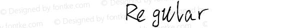 张瀚宸大神的英文手写字体 Regular 版本1.1 , 修改于2017.6.3