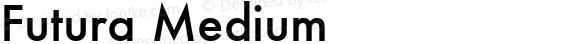 Futura Medium 5.0d1e1