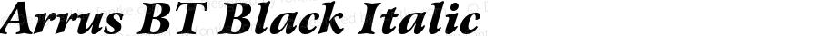 Bitstream Arrus Black Italic BT