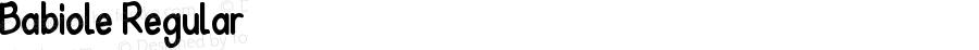 Babiole Regular Fontographer 4.7 3/01/12 FG4M0000002045