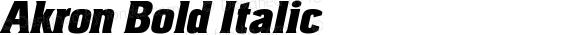 Akron-BoldItalic