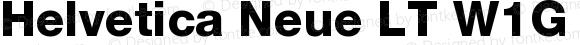 Helvetica Neue LT W1G 85 Heavy