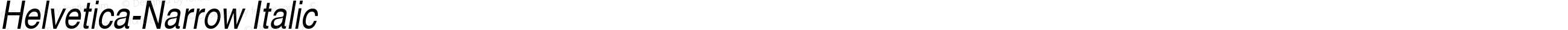 Nimbus Sans L Regular Condensed Italic