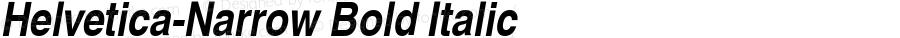 Nimbus Sans L Bold Condensed Italic