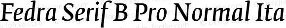 Fedra Serif B Pro Normal Italic