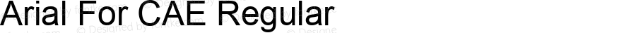 Arial For CAE Regular Version 1.00