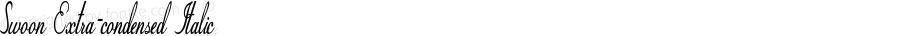 Swoon-ExtracondensedItalic