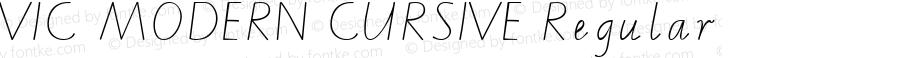 VIC MODERN CURSIVE Regular Macromedia Fontographer 4.1.5 19/4/02
