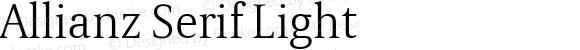 Allianz Serif Light Version 1.00