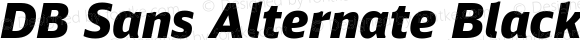 DB Sans Alternate Black Italic