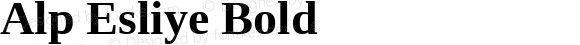 Alp Esliye Bold Version 4.20 April 5, 2011