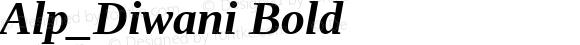 Alp_Diwani Bold Version 4.20 April 5, 2011