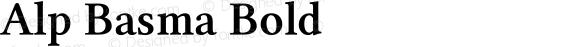 Alp Basma Bold Version 4.20 April 3, 2011