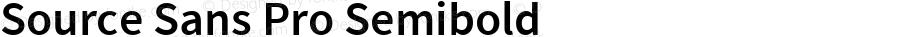 Source Sans Pro Semibold Regular