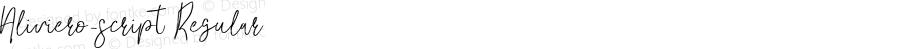 Aliviero_script Regular Version 1.000;PS 001.000;hotconv 1.0.88;makeotf.lib2.5.64775