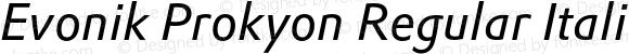 Evonik Prokyon Regular Italic
