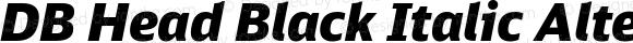 DB Head Black Italic Alternate
