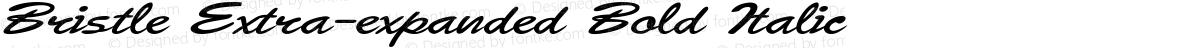 Bristle Extra-expanded Bold Italic
