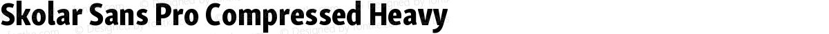 Skolar Sans Pro Compressed Heavy