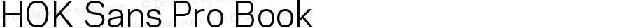 HOK Sans Pro Book Version 1.000