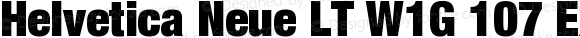 Helvetica Neue LT W1G 107 Extra Black Condensed