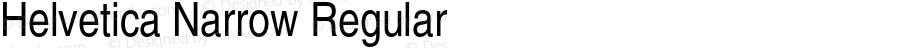 Helvetica Narrow Regular 001.006