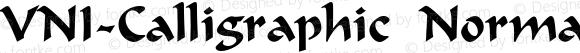 VNI-Calligraphic Normal 1.0 Sat Nov 15 18:41:31 1997