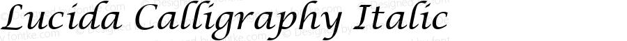 Lucida Calligraphy Italic Version 1.01