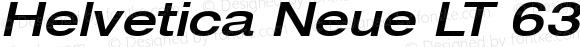 Helvetica Neue LT 63 Medium Extended Oblique