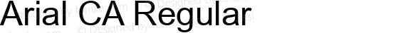 Arial CA Regular MS core font:V1.00