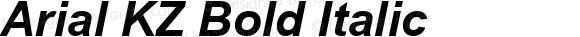 Arial KZ Bold Italic Version 2.50 KZ