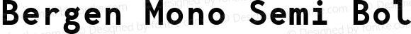 Bergen Mono Semi Bold