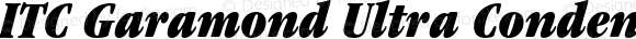 ITC Garamond Ultra Condensed Italic