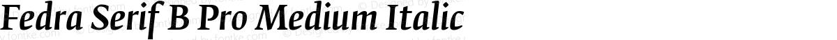 Fedra Serif B Pro Medium Italic