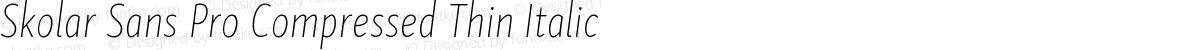 Skolar Sans Pro Compressed Thin Italic