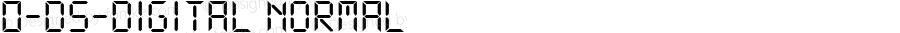 0-DS-Digital Normal DS core font: V1.00 Sun Jan 03 08:19:29 1999