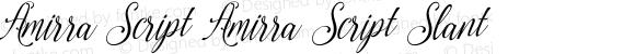Amirra Script Amirra_Script Slant Version 1.000