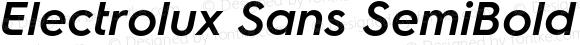 Electrolux Sans SemiBold Oblique