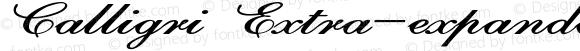 Calligri Extra-expanded Bold Italic