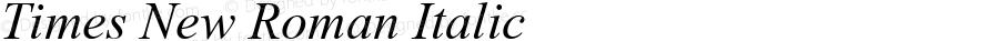 Times New Roman Italic Macromedia Fontographer 4.1.5 6/12/99