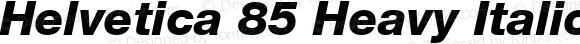 Helvetica 85 Heavy Italic