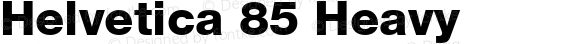 Helvetica 85 Heavy