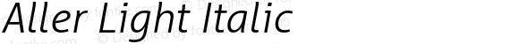 Aller Light Italic Version 1.00