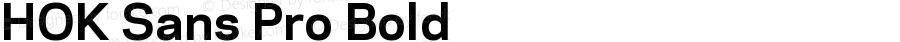 HOK Sans Pro Bold Version 1.000